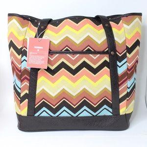 Missoni Colore Zig Zag Large Tote Handbag Target